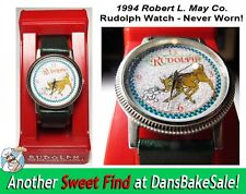 Rudolph the Red Nosed Reindeer Glitter Watch 1994 Robert L. May Co - New In Box