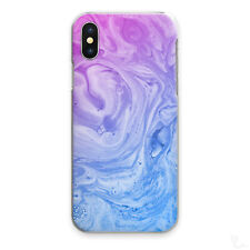 PURPLE MARBLE PHONE CASE BLUE PURPLE SWIRL HARD COVER FOR APPLE SAMSUNG HUAWEI..