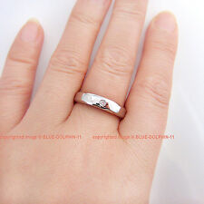 Genuine Natural Diamond Solid 9ct White Gold Engagement Wedding Mens women Ring