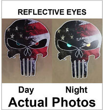 Punisher Skull Decal Reflective Eyes Sticker Car Truck Jeep Army Military Sniper
