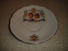Regency Bone China Lady Diana & Prince Charles Commemorative Saucer-1981 Wedding