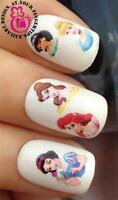 NAIL ART WATER TRANSFERS/DECALS/STICKER ARIEL/JASMINE/BELLE/CINDERELLA/SNOW #517