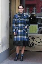 Kimo Kleidung Damen Mantel coat blau blue weiß 70er True VINTAGE 70´s women