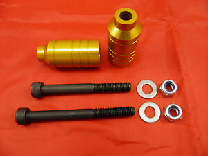 2 x FIREWHEEL-INC GOLD SCOOTER ALLOY GRIND PEGS *NEW* WILL FIT MOST SCOOTERS