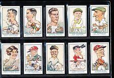 1933 Turf Personality Series set of 24 cards Bunton Bradman