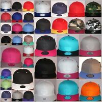 Snapback caps, Plain flat peak fitted hats, retro vintage baseball Sale hiphop