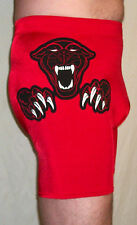 NEW RED BLACK PANTHER PRO WRESTLING GEAR MENS TIGHTS XL