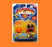 DC SUPERMAN DELUXE VISION BLAST SUPERMAN RARE MOC FROM KENNER!!