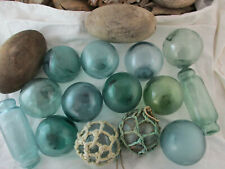 Nice Selection Alaska Beachcombed Vintage Japanese Glass Floats and Cedar Corks