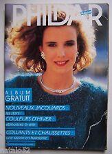 ) catalogue vintage laine tricot PHILDAR mailles N° 136 femme - 1986