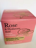 ROSE & Hyaluronic Acid Restorative Night Intense Rejuvenation Face Cream 1.7 Oz