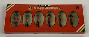 William Britain Metal Toy Soldiers Coldstream Guards 6 Figures New-Old-Stock