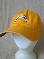 SAN DIEGO CHARGERS Hat Ball Cap Reebok NFL Yellow Adjustable