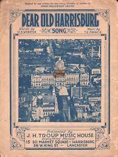 Dear Old Harrisburg 1924 Sheet Music