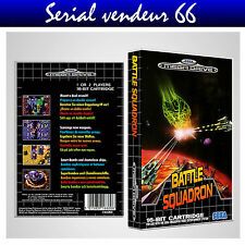 "BOX, CASE ""BATTLE SQUADRON"". Megadrive.BOX + COVER PRINTED.NO GAME. MULTILINGUAL"