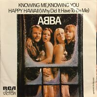 "ABBA Knowing Me Knowing You / Happy Hawaii Single 45rpm 7"" Mexican Press nm"