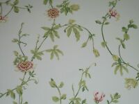 SANDERSON CURTAIN FABRIC PASSION FLOWER  4 METRES  DK3784