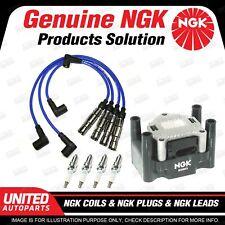 NGK Spark Plugs Coils Leads Kit for Volkswagen Beetle 9C Bora 1J Golf Mk4 4Cyl