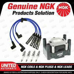 NGK Spark Plugs Coils Leads Kit for Volkswagen Beetle 9C Bora 1J Golf Mk4 4Cyl