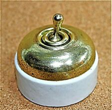 1930s porcelain and tin electric button