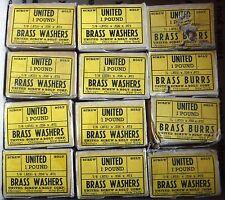 "NOS App 1000 Brass Burrs & Washers 7/8"" OD 1/4"" ID United Screw & Bolt USA 12 #"