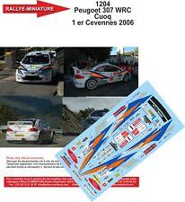 DECALS 1/32 REF 1204 PEUGEOT 307 WRC CUOQ CRITERIUM OF CEVENNES 2006 RALLY