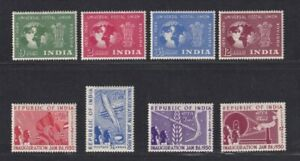 India stamp 1949-1950 75th Anni of UPU set and Inauguration of Republic set, MH