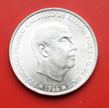 Spanien-Spain: 100 Pesetas 1966 Silber Coinage, KM# 797, Unc-VZ+-XF+,Star,#F0304