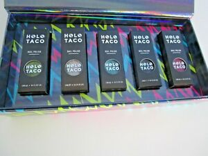 Authentic Holo Taco Electric Holos Collection 5 Nail Polish Enamel In Box