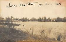 RPPC Trout Pond, Williamsburg, Michigan Whitewater Township ca 1910s Postcard
