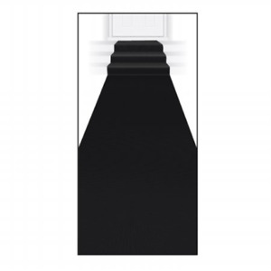 Hollywood Black Carpet Floor Runner Rug Aisle VIP Party Awards Night Wedding