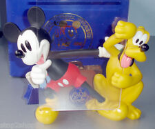 Disneyana Convention Mickey Mouse Pluto Figurine Photo Holder Love Laughter '98