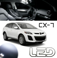 Mazda CX-7 CX7 Kit 6 ampoules LED Blanc éclairage  Plafonnier Coffre miroirs