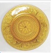 Retired Luncheon Plate Amber Glass Indiana Sandwich Tiara Free Ship Vintage