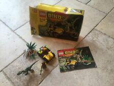 LEGO 5882 DINO AMBUSH ATTACK * 100% COMPLETO, ISTRUZIONI, in scatola, Figura + DINO