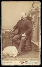 King Edward VII as Prince of Wales in Hamburg 1887 Signed Cabinet Photo by Numa