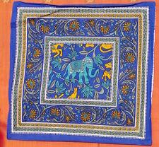 Taie de coussin indien Éléphant coton Fait main Batik Housse de coussin Inde