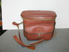 Vintage Camera Case GADG-IT Leather Flip Top 0714 USA Made W/Strap Diamond