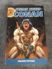 SAVAGE SWORD OF CONAN TPB Dark Horse Vol. 15 Fine-VF Conditon - OOP/Rare