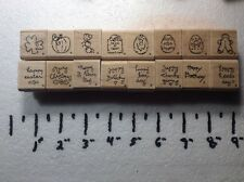 Qty 16 Lot Rubber Holiday Stamps Stamping Up Scrap Booking Crafts Art