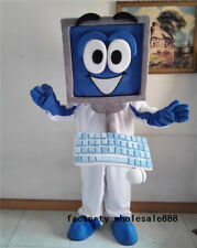 Advertising Notebook Computer Mascot Costume Adult Party Dress Clothing Handmade
