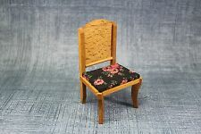 Vtg DollHouse Miniature Doll House Wood Kitchen Dining Rm Chair Furniture
