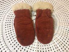 Ladies Vintage Cow Leather Mittens