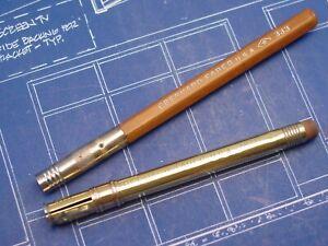 """Vintage EBERHARD FABER """"Pencil Extender"""" Drafting Drawing Tool Pair"""