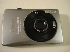 Very Nice Canon Powershot SD750 Digital Camera IXUS 75 - Black