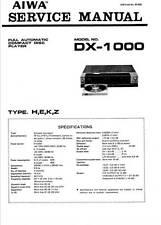 AIWA DX-1000 DX 1000 -SERVICE MANUAL - MANUALE DI SERVIZIO - CD PLAYER - pdf