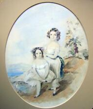 SMALL PORTRAITS MERELINA AND EMMA GORDON W/COL ENG SCHOOL C1843