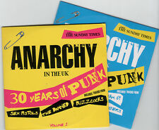 ANARCHY IN THE UK: 30 YEARS OF PUNK VOLS 1 & 2 - PROMO CDs: SEX PISTOLS, DAMNED