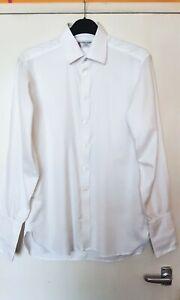Turnbull & Asser Turnbuline Slim Fit White Formal Shirt - Large / 16 Collar
