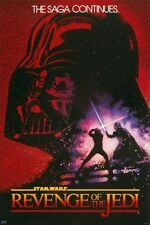 REVENGE OF THE JEDI ~ DREW STRUZAN 24x36 MOVIE POSTER Star Wars Episode VI 6